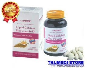 Liquid Calcium Plus Vitamin D (60 viên)- Bổ sung canxi cho bà bầu, chống loãng xương