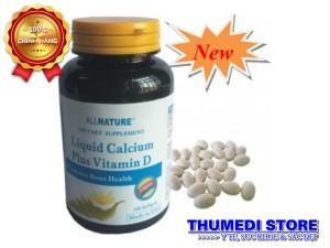 Liquid Calcium Plus Vitamin D (100 viên) – Bổ sung canxi hiệu quả cho bà bầu