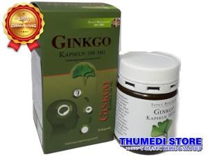 Ginkgo Kapseln 100mg – Tăng cường tuần hoàn não, lưu thông máu, giảm đau đầu